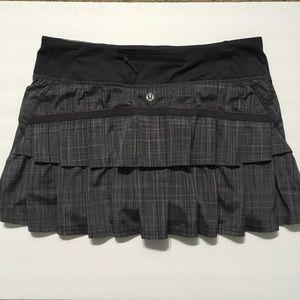 Lululemon Pace Setter Skirt Coal Pig Pink Shale 6